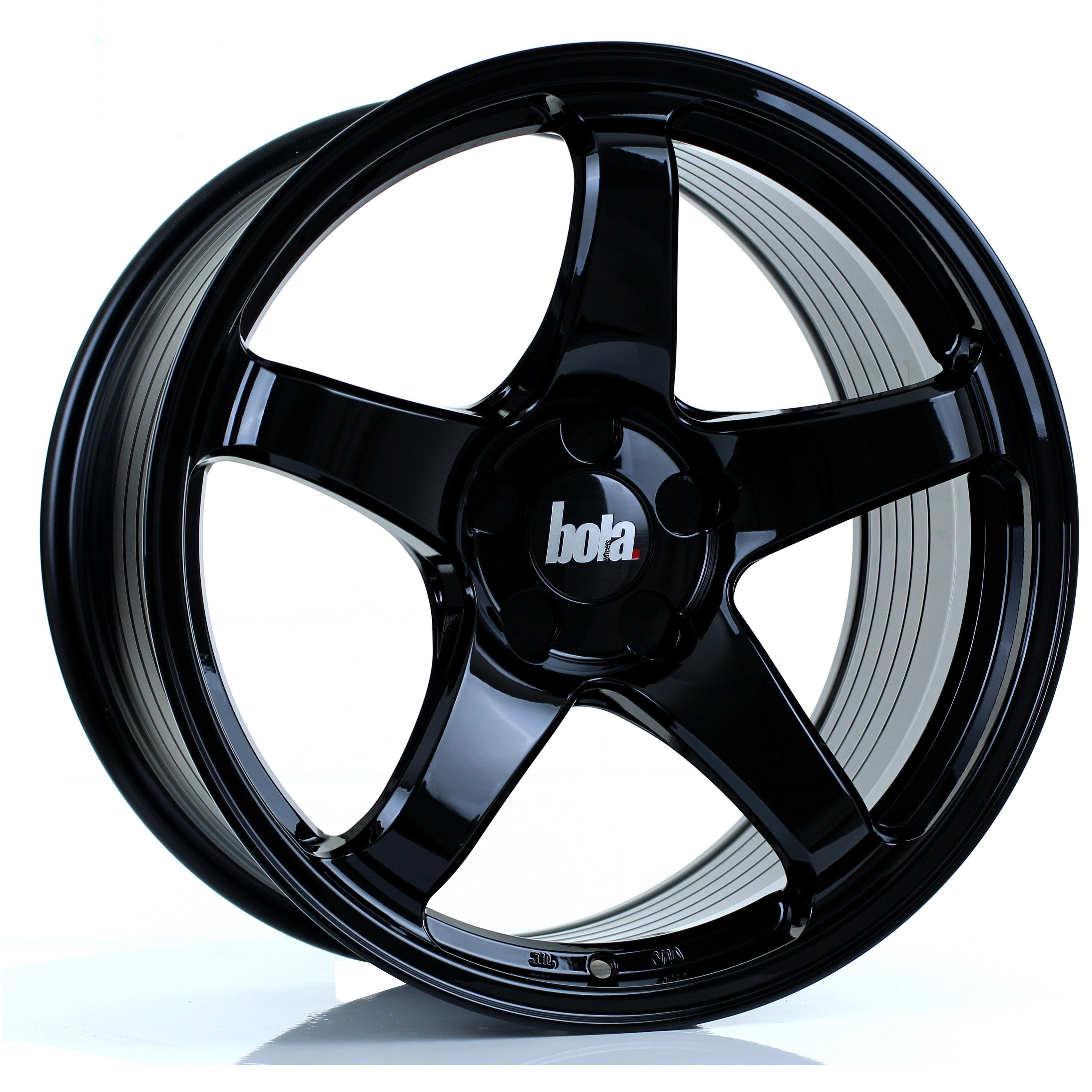BOLA B2R hliníkové disky 9,5x18 5x114,3 ET30 DO 45 GLOSS BLACK
