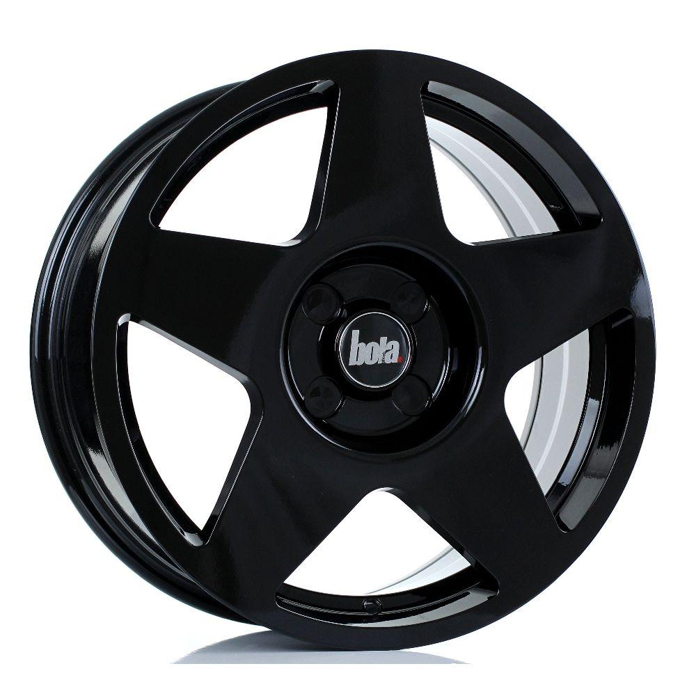 BOLA B10 hliníkové disky 7,5x17 4x108 ET40 DO 45 GLOSS BLACK