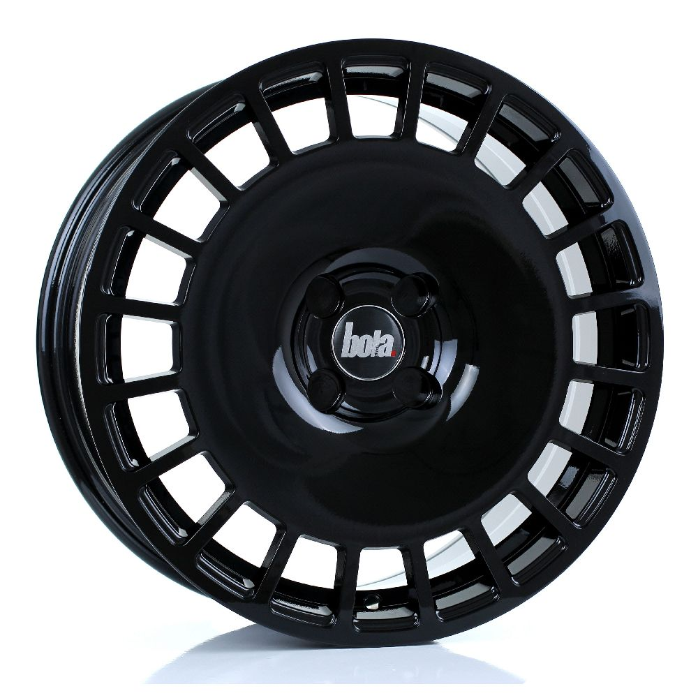 BOLA B12 hliníkové disky 8x17 5x105 ET30 DO 45 GLOSS BLACK
