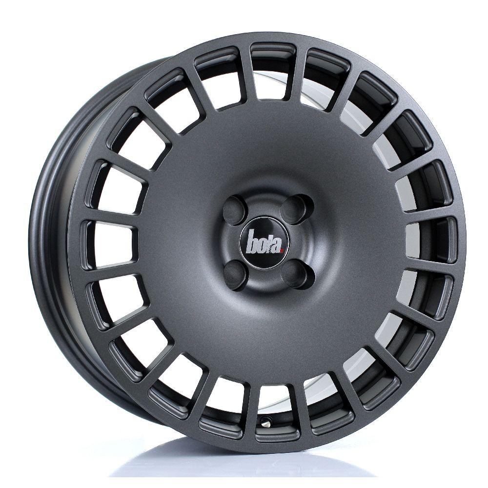 BOLA B12 hliníkové disky 8x17 4x108 ET30 DO 45 MATT GUNMETAL