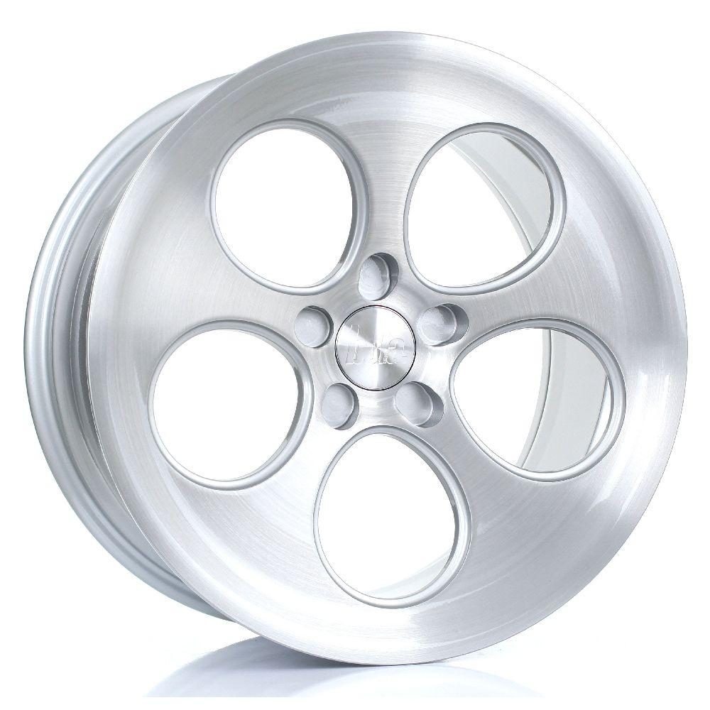 BOLA B5 hliníkové disky 9,5x18 5x108 ET40 DO 45 SILVER BRUSHED POLISHED FACE