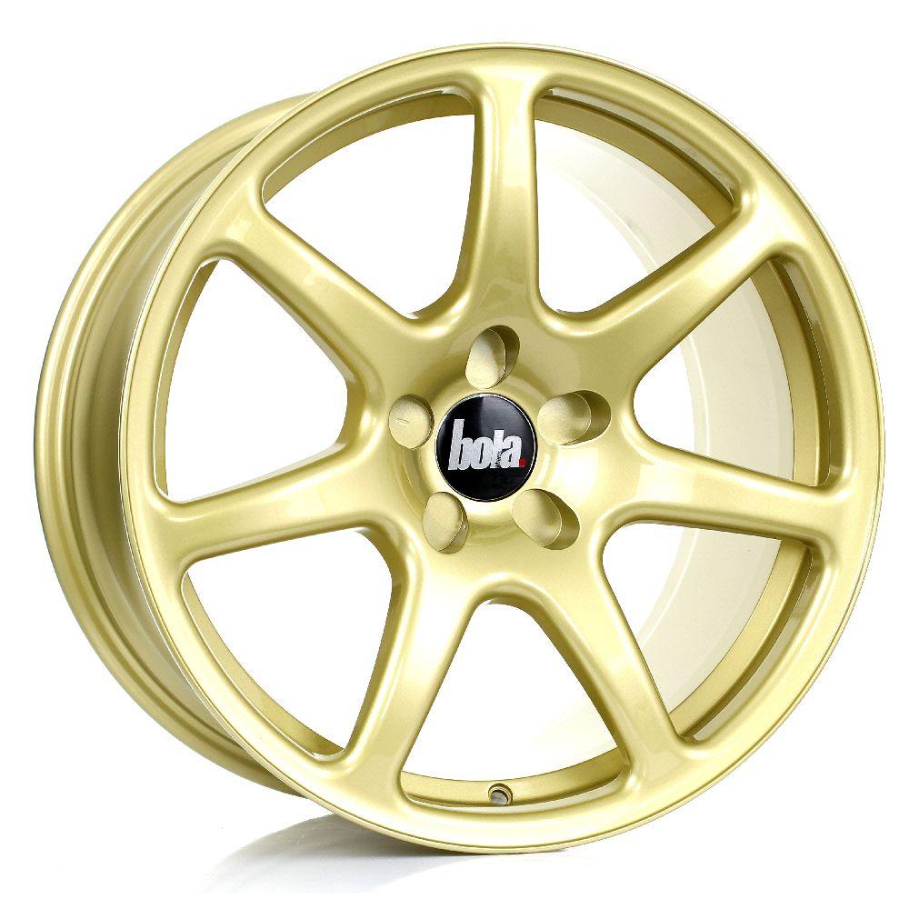 BOLA B7 hliníkové disky 9,5x18 5x105 ET25 DO 45 GOLD