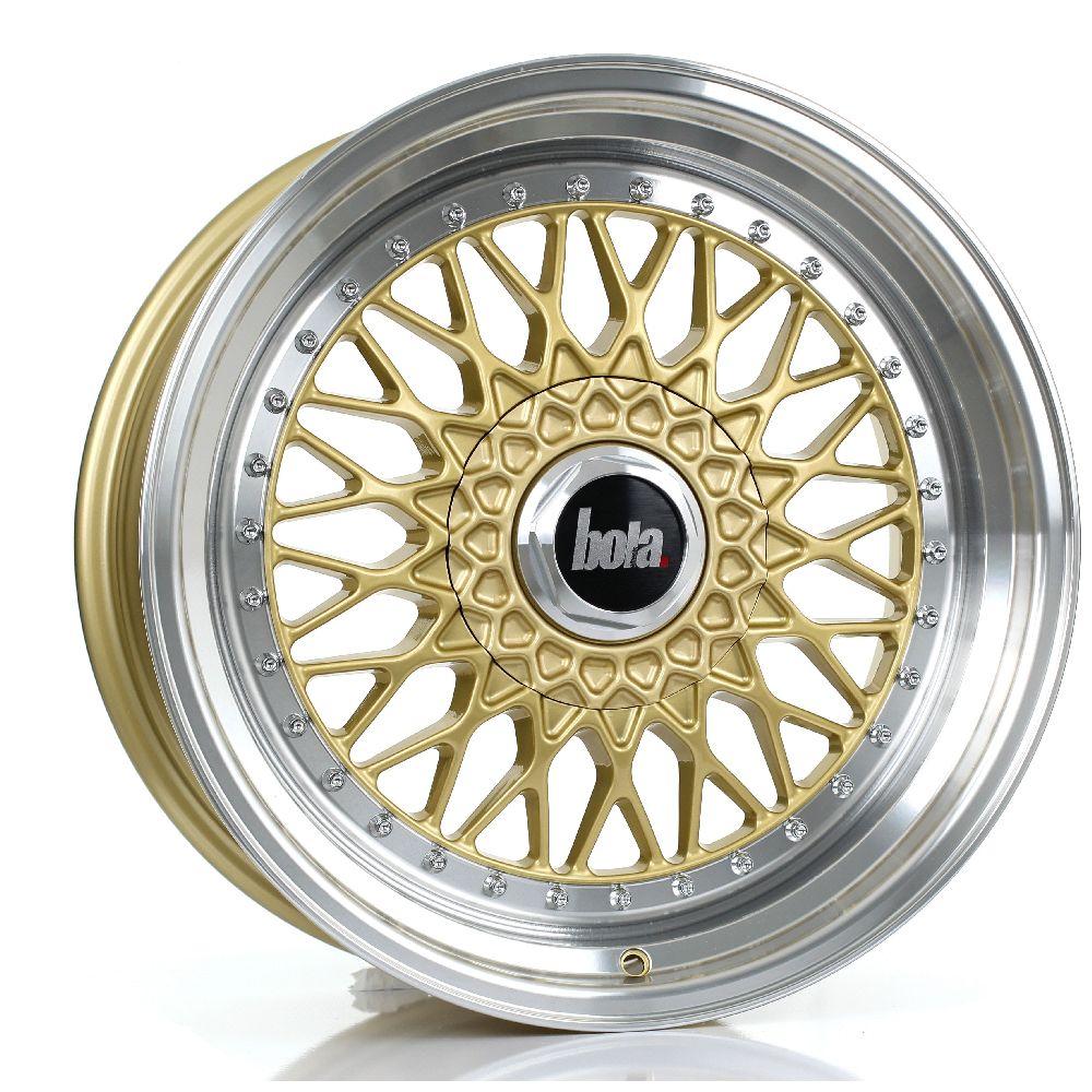 BOLA TX09 hliníkové disky 8,5x18 5x120 ET20 DO 38 GOLD POLISHED LIP