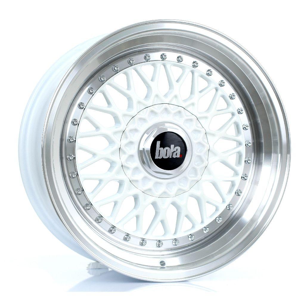 BOLA TX09 hliníkové disky 8x17 4x108 ET20 DO 38 WHITE POLISHED LIP